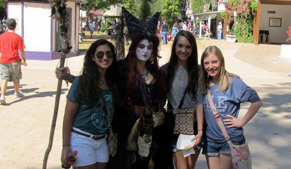 Students Travel to the Past at Renaissance Festival