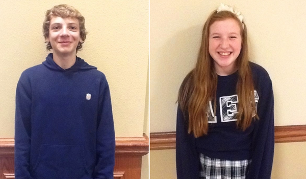 November and December Students of the Month: Reece McDaniel and Grace Hill